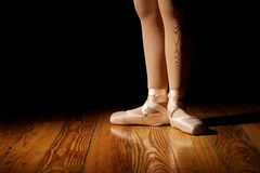 Ballerina Feet in First stock photography