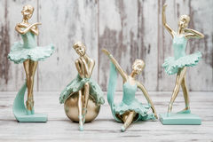 Ballerina Figure with Green Dress Stock Images