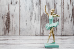 Ballerina Figure with Green Dress Stock Image