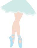 ballerina Gambe snelle in pantofole di balletto Fotografie Stock Libere da Diritti