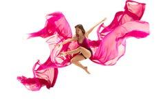 ballerina Giovane ballerino di balletto femminile grazioso che balla sopra lo studio bianco Bellezza di balletto classico fotografie stock