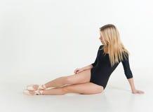 Ballerina girl blonde Royalty Free Stock Image