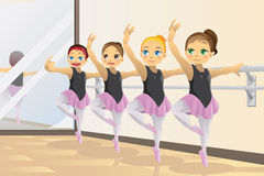 Ballerina girls vector illustration