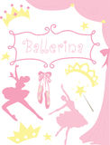 Ballerina Graphics Stock Images