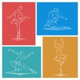 Ballerina hand drawn vector set Royalty Free Stock Photo