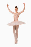 Ballerina with her arms risen royalty free stock photo