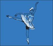 Ballerina het dansen Royalty-vrije Stock Foto