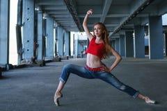 Ballerina het dansen Straatprestaties royalty-vrije stock afbeelding