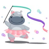Ballerina Hippo. A hippo that does ballet Royalty Free Stock Images