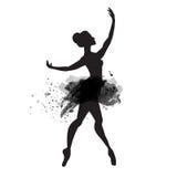 Ballerina i dans Vattenfärgvektor Fotografering för Bildbyråer