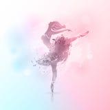 Ballerina i dansbakgrund royaltyfri fotografi