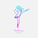 Ballerina i dansemblem Arkivbild