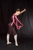 Ballerina im Schwarzen Lizenzfreie Stockbilder