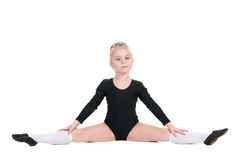Ballerina im schwarzen Badeanzugtraining Stockfotos
