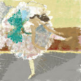 Ballerina. In the impressionist style Royalty Free Stock Photos