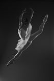 Ballerina in jump. Professional ballerina in jump. Studio Royalty Free Stock Photos