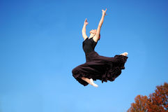 Ballerina Jumping Stock Images