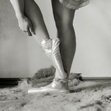 Ballerina legs Stock Photography