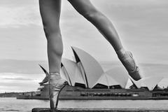Ballerina Legs Angle point Royalty Free Stock Photography