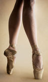 Ballerina legs in pointe Stock Images