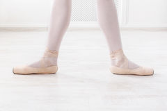Ballerina legs in second position Royalty Free Stock Images
