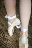 Ballerina legs on tiptoe Royalty Free Stock Images