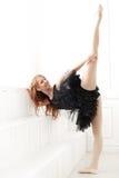 Ballerina. Lifestyle. Beautiful ballerina during performance Royalty Free Stock Photo