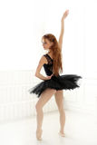 Ballerina. Lifestyle. Beautiful ballerina during performance royalty free stock image