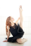 Ballerina. Lifestyle. Beautiful ballerina during performance Stock Images