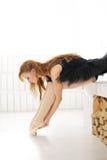 Ballerina. Lifestyle. Beautiful ballerina during performance Royalty Free Stock Photos