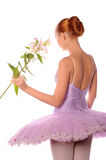 Ballerina with lily Stock Photos