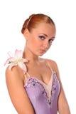 Ballerina with lily Stock Photos