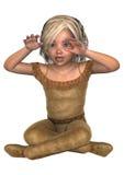 ballerina little Arkivbild