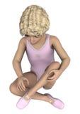 ballerina little Arkivfoton