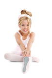 Ballerina little ballet children stretching Stock Image