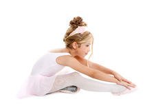 Ballerina little ballet children stretching Royalty Free Stock Image
