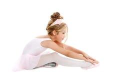 Ballerina little ballet children stretching Royalty Free Stock Image