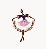 Ballerina. Little Golden ballerina dance for you and me Stock Image