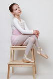 Ballerina. Little ballerina in pointe shoes Royalty Free Stock Images