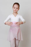 Ballerina. Little ballerina in studio posing on camera Stock Image