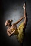 Ballerina. Lovely ballerina in yellow tutu Royalty Free Stock Image