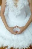 Ballerina& x27; mãos de s como uma forma dura imagens de stock royalty free