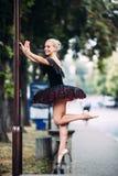 Ballerina makes selfie Stock Photos