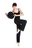 Ballerina med den övre hatten Royaltyfri Foto