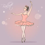 ballerina Menina de dança na saia luxúria Fotografia de Stock