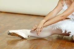 Ballerina mentre sta ballando Fotografie Stock