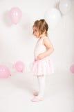 Ballerina met Ballons Stock Foto's