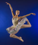 Ballerina mid-air jump Royalty Free Stock Photos