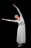 Ballerina mit den entfalteten Armen Stockfoto