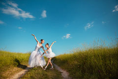 Ballerina mother and daughter Stock Photography